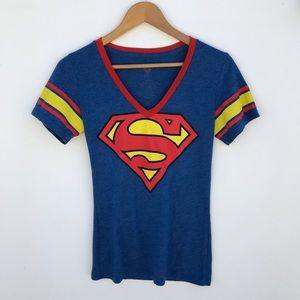 SuperMan DC Commics T-Shirt Red Blue Size M